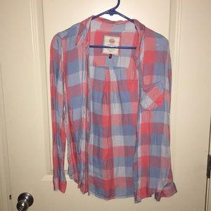 Women's lightweight flannel size medium